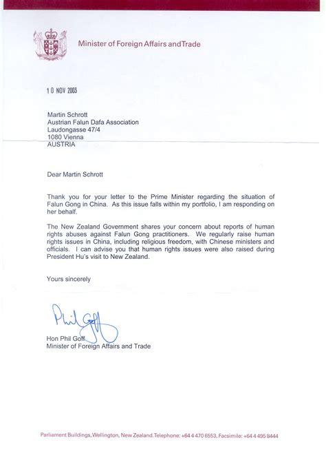 Mahnung Muster Vereinsbeitrag neuseeland brief des au 223 enministers an den
