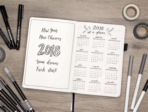 new year journal planning for the new year in your bullet journal zen of