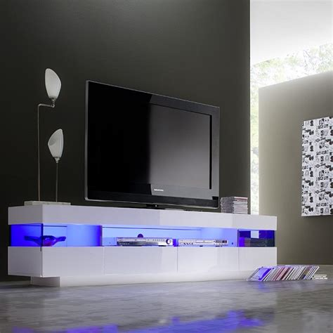 Modern Pendant Lighting Dining Room by Liven Lcd Tv Stand In White Gloss With 4 Drawers And Led