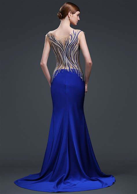 Cn Vevita Syarii Turkis Pink blue pop line beaded robe soiree lycra evening dresses turkey buy robe soiree evening