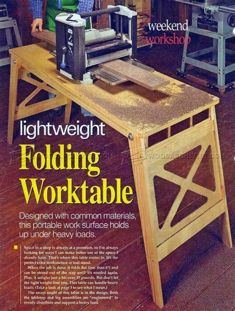 folding work table plans workshop solutions plans