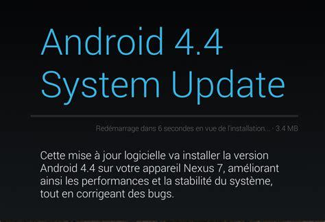 android 4 4 quot krt16s quot arrive sur les nexus 4 nexus 7 et nexus 10