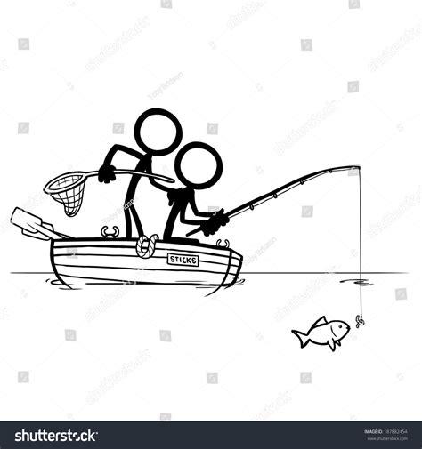 figure fishing stick figures fishing stock vector 187882454