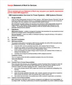 Contractor Statement Of Work Template by 4 Statement Of Work Templates Excel Xlts