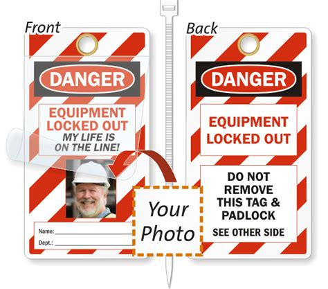 Photo Lockout Tags My Life Is On The Line Tags Free Shipping Lock Out Tags Template