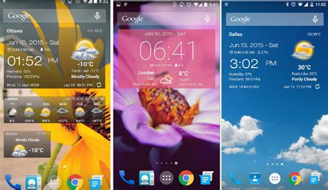 clock and weather widgets for android top 6 best android weather widget app 2017