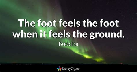it feels homey the foot feels the foot when it feels the ground buddha