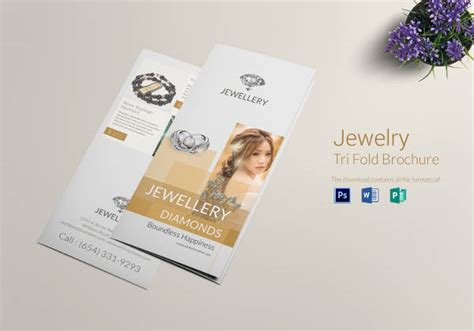 simple tri fold brochure template 23 jewelry brochure psd vector eps jpg
