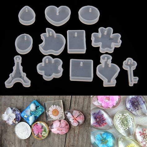 how to make silicone jewelry 12pcs diy silicone pendant mold jewelry pendant