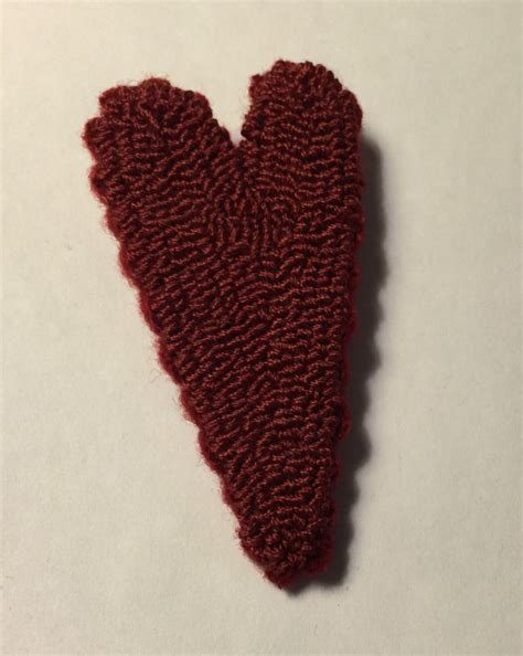 items similar to primitive valentine needle punch pin red