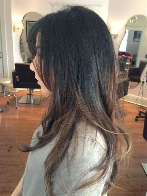 balayage ombre highlights on dark hair casinta ombre vs balayage hair