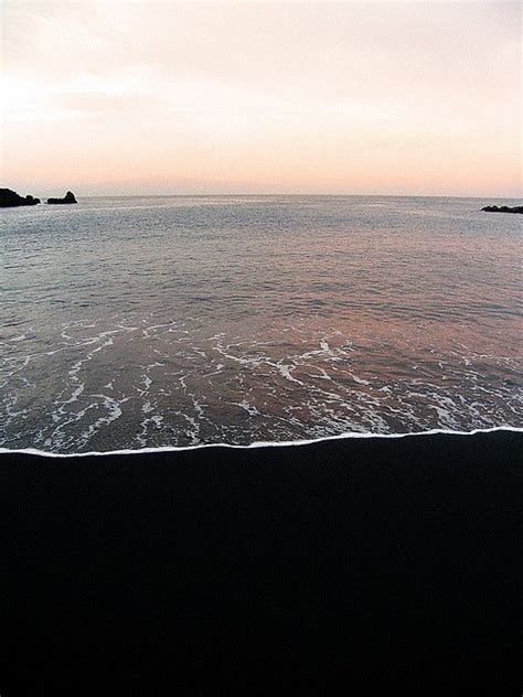 black sand black sand tenerife canary islands seascapes pinterest