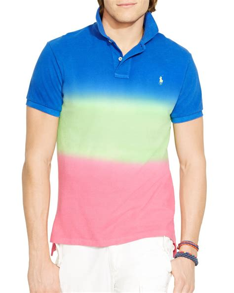 lyst ralph polo custom fit dip dyed polo shirt