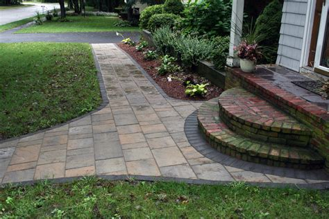 artistic landscapes com blog 187 danvers ma front walkway with techo bloc pavers