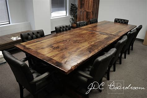 Wooden Boardroom Table Toronto Reclaimed Wood Boardroom Table
