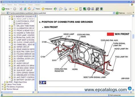manual repair free 2000 daewoo nubira spare parts catalogs daewoo chevrolet tis europe