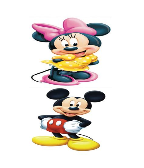Sticker Micky Mini Mouse Dinding 1 pindia multicolour mini mouse mickey mouse