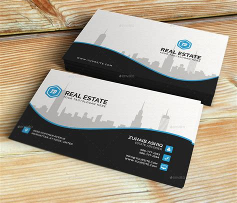 3 stylish real estate business card templates real estate business card template by themedesk