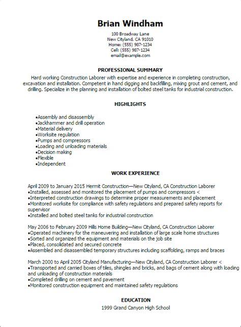 General Laborer Resume Sample – General Labor Resume Sample   My Perfect Resume