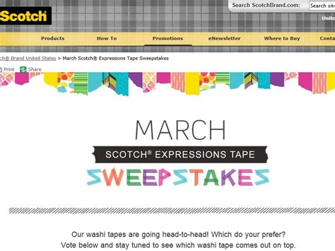 Sweepstakes Fanatics - march scotch expressions tape sweepstakes sweepstakes fanatics