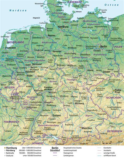 karta deutschland image gallery karte gebirge deutschland