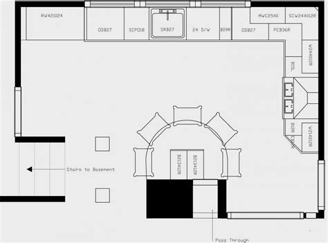 floor l ideas kitchen layout ideas kitchen floor plan with island and