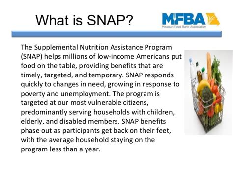 table for temporary assistance benefits in missouri snap outreach missouri