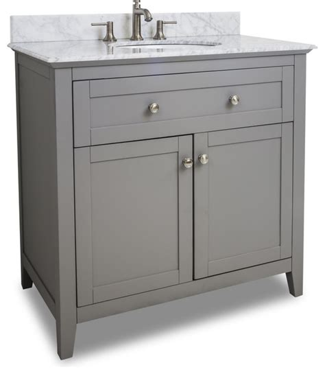 Bathroom Bowl Vanities by Gray Chatham Shaker Vanity With Top And Bowl Traditional Bathroom Vanities And Sink Consoles