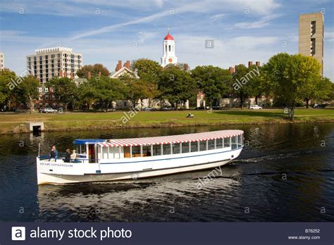 charles river boat tour boat on the charles river and harvard university in