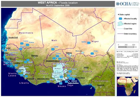 west africa map pdf west africa floods location as of 01 sep 2009 benin