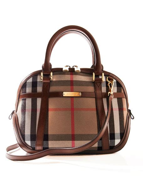 Burberry Dome Satchel by Burberry Sm Orchard Bh Chk Dome Bag