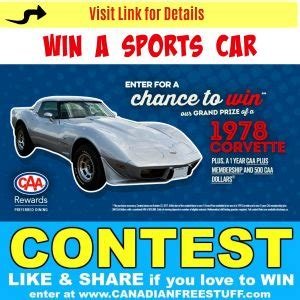 Corvette Giveaway Promo Code - kelsey canada contests win a 1978 corvette canadian