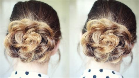 Flower Hairstyles by And Easy Flower Bun Hairstyle School Hairstyles