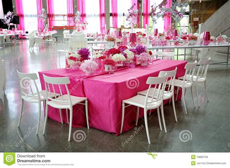 Christmas Dinner Table Centerpieces - pink party royalty free stock photos image 19800758