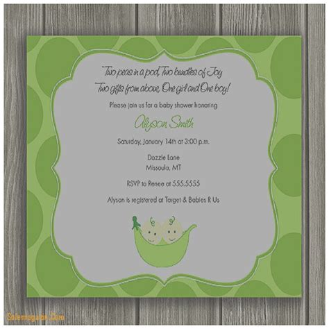 baby shower invitation luxury twin baby shower invitation baby shower invitation luxury two peas in a pod baby