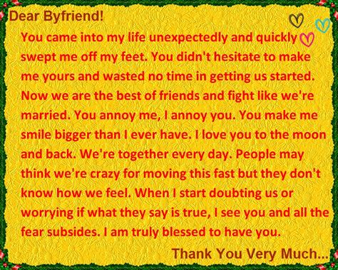 thank you letter boyfriend i you and thank you letter to your boyfriend
