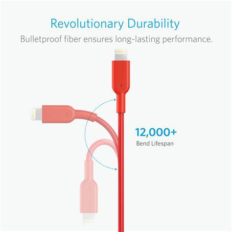 Kabel Data Iphone Lightning Usb Anker Powerline 6ft 18m 1 powerline ii dura 6ft lightning a8433h91kabel charging iphone asli mfi