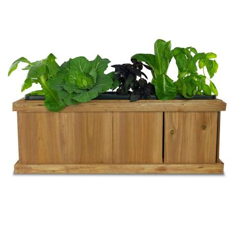 planter box pennington 40 in x 12 in wood planter box 540 the home depot