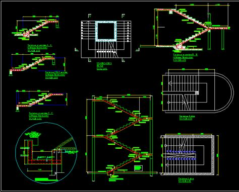 staircase section dwg file staircase in autocad drawing bibliocad