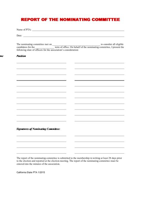 Top 6 Committee Report Templates Free To Download In Pdf Format Nominating Committee Report Template