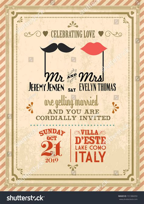 vector wedding invitations vintage wedding invitation card template