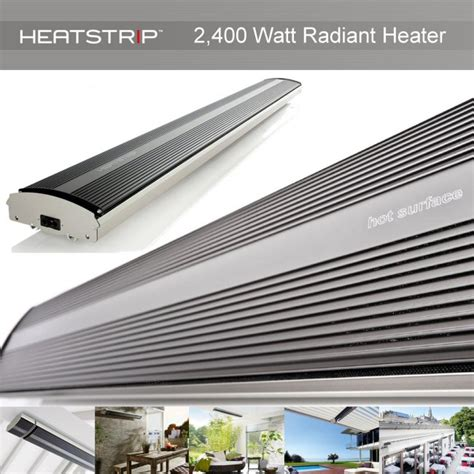 radiant patio heaters heatstrip 2400 watt radiant electric terrace and patio