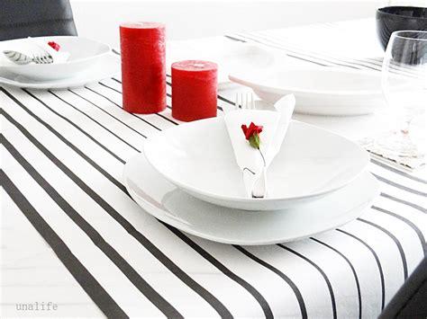 tischdeko schwarz rot tischdekoration black white