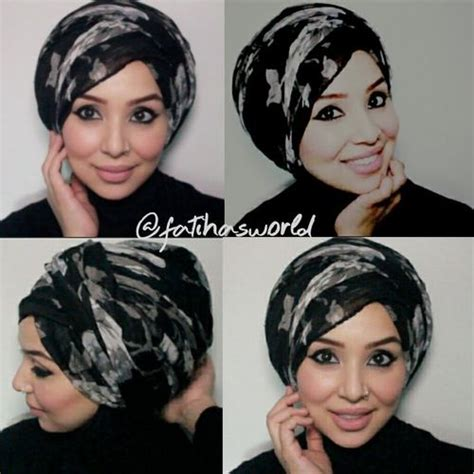 tutorial rajut turban my go to turban style tutorial by fatihasworld youtube
