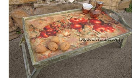 decoupage art tutorial how to decoupage art tutorial the decoration of tray diy