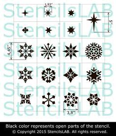 snowflake stencils for windows 6pcs set new year spray pattern santa snowflake window ornaments