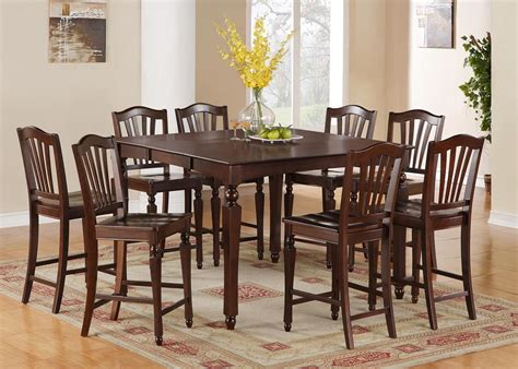 5pc square counter height dining room table set 4 stool ebay