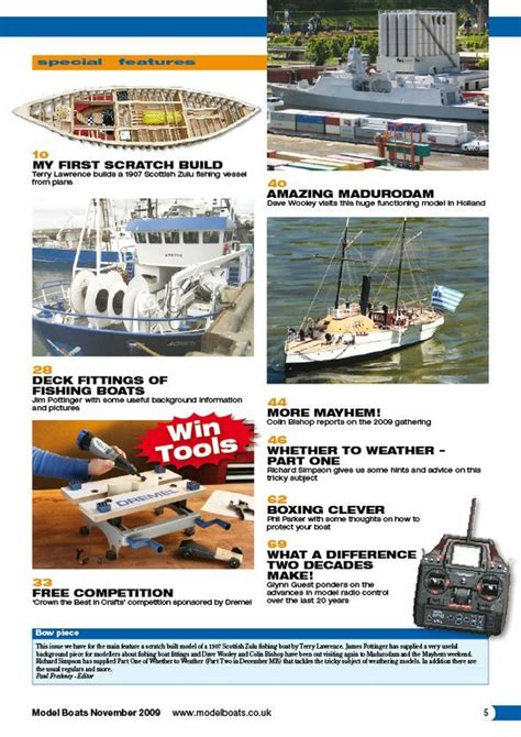 boat parts magazine model boats november 2009 magazine covers and contents