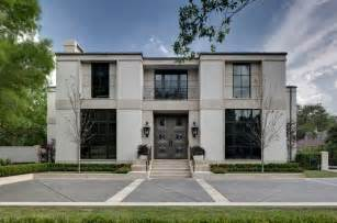 Neoclassical Homes Combination Of Limestone And Burnished Stucco