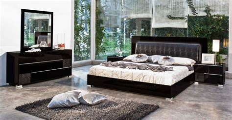 black italian bedroom furniture modrest grace italian modern black bedroom set